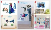 Wholesale 2015 New arrived Style x70cm Frozen Wall Sticker Bedroom Decoration Decal Poster for Kids Rooms Decor Frozen Stickers Birthday Gifts