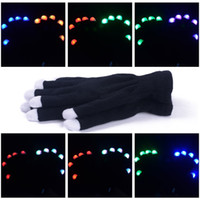 animal gift club - LED Gloves Flashing Finger Lighting Gloves for Clubbing Rave Birthday EDM Disco Dubstep Party Glow Gloves Flash Gift LED Flash Gloves
