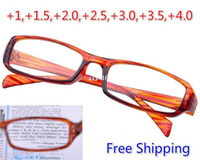 Wholesale 2014 New Brand Designer Reading Glasses For Men Women Brown Dioptre PC Lens Glasses With Box