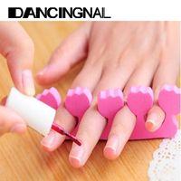 Wholesale Nail Art Soft Finger Toe Separator Pedicure Manicure Salon Tools Random Color