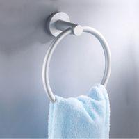 bathroom accessories - 2015 Acessorios Para Banheiro Bathroom Accessories Towel Warmer Aluminum Round Towel Ring Rack Wall Mounted Body Towels Holder H14494