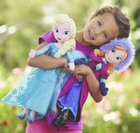 al por mayor nano juguete-Frozen 20-40cm Princesa Elsa Plush Anna Peluche Muñeca Brinquedos Muñecas Olaf Milu Sven Kristoff Moive Juguetes Muñecas Para Regalos Baby Dolls