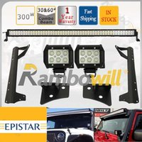 led light bar - 51 quot Combo Beam Offroad W LED Light Bar W CREE Driving Head Work Lamp With Windshield A Pillar Mount Bracket For JEEP Wrangler