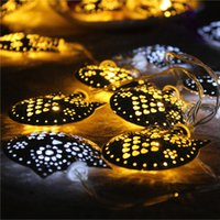 bbq garden party - New Hot Sale Two Colors LED String Owl Fairy Mirror Lights Garden Outdoor Summer Party BBQ Wedding Decor