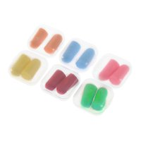 Wholesale Candy Color Soft Foam Ear Plugs Tapered Travel Sleep Noise Prevention Earplugs Noise Reduction For Travel Sleeping Brand New