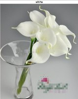 Wholesale Hot cm Elegant Silicon Artificial Egyptian Calla Lily Alocasia Flower for Wedding Bridal centerpieces Decorations