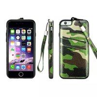 apple iphne - Camo camouflage PU leather wallet card with hand strap case cover skin for iPhone iPhne S iPhone Plus fashion case