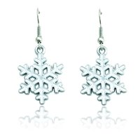Wholesale High Quality Charms Earrings Dangle Oil Drop Snowflake Fashion Statement Earrings For Women Christmas Decoration Jewelry