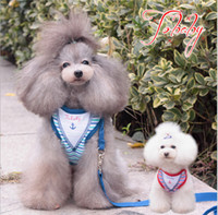 basic drawing - Pet leash Apparel Vest pet strap striped sailor protected pet chest straps chest straps drawing rope Teddy dog Supplies clothing sets F