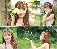 alexandrite wedding band - Girl Floral Flower Festival Wedding Garland Forehead Hair Head Band headbands Crown Accessories