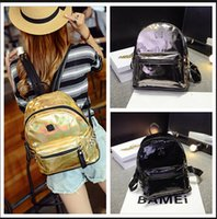 Wholesale Hot selling holographic bag Women backpack fashion Hologram Laser women s school Bag for women travel bags Zipper school bag BFH189 piece