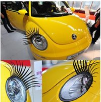 Wholesale 3D Automotive Headlight Eyelashes Car Eye Lashes Auto D Eyelash D Car Logo Sticker CHR