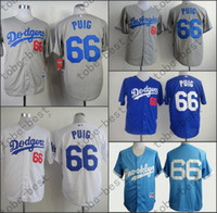 baby los angeles - Promotion Los Angeles Dodgers Yasiel Puig Jersey White Grey Blue Stitched Baseball Jerseys Brooklyn Dodgers Baby Blue