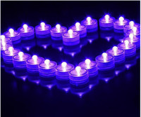 Wholesale New White Color Waterproof LED Submersible Candles Tealight Lamp Fish Tank Vase Decor Lighting For Wedding Birthday Party Decoration10pcs