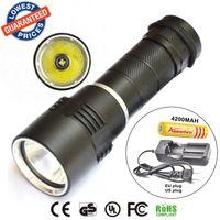 battery pool lights - 2015 new DV10 dive light XM L L2 led diving flashlight underwater M torch light led flash light lantern battery charger