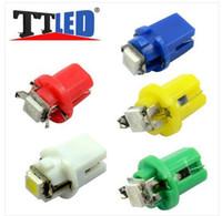 Wholesale 100PCS T5 B8 D SMD Car Gauge LED Speedo Dashboard Dash Light Bulb V Bulb Dashboard Light