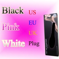Cheap Hair Straightener Iron HQT-906 Hair iron Hair Brush Hair Styling Tool comb With LCD BLACK WHITE PINK US EU UK AU free LOGO