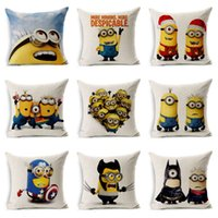 Wholesale soya beans styles Home Decorative Despicable Me soya beans Cotton Linen Pillow Case Cover funda cojin cute decoration E344J