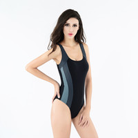 athletic swimsuits - New Sexy Athletic Women One Piece Swimsuits Sports Triangle swimwear Backless Crossing High quality Fabric Beach wear swimsuit