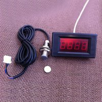Wholesale New Digital Red LED Tachometer RPM Speed Meter Proximity Switch Sensor NPN Wires