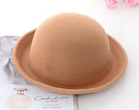 Wholesale 2014 Fashion Winter Hat Vintage Women Lady Cute Trendy Wool Felt Bowler Derby Fedora Hat Cap for Women HT73