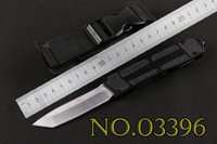 Wholesale NEW Modles Microtech Half Serrated Black SCARAB Survival knife Pocket knife Tactical knife knives micro cutting tool with Box