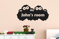 baby names movies - Personalised kids Name Monster Vinyl Wall Decal Stickers for Baby Room Decor