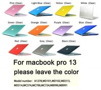 Wholesale For Macbook Pro inch Crystal Transparent Clear Hard Case Shell Cover Free Keyboard Skin
