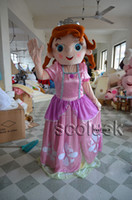 Cheap Lovely Princess Sofia Puzzle Pink Character Mascot Costumes Adult Size Sophia Suit