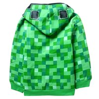baby creepers - 100pcs cm choose size winter Creeper Hoodie MINECRAFT Zipper thick Coat Creeper jacket Sweater fashion christmas baby boy clothes