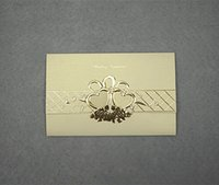 embossed wedding invitations - BEST QUALITY Personalized Customized Golden Printing Folded Embossed Wedding Invitations Wedding Cards Party Invitations Invitation Cards