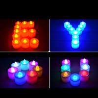 El parpadeo del LED Vela sin llama Portacandelitas batería de té Velas de luz fiesta de cumpleaños de la boda Pareja velas de Navidad mercancías libres del envío