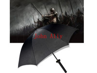 Wholesale Black Samurai Umbrella Men Katana Samurai Japanese Sword Umbrella Katana Sword Umbrella Samurai Swords Katana Decor