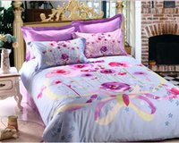 100% Cotton other Knitted Twill reactive printed cotton quilt cover, bedsheet and 4 PCS bedding set