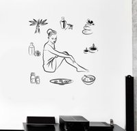 beauty salon decor - 2016 Spa Yoga wall sticker Removable home decor Beauty Salon vinyl decals wall decoration art mural
