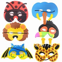 Wholesale 10pcs New year gift Kids cartoon animal EVA mask Christmas Halloween Party Masks Educational toys for children