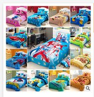 Wholesale 51 styles kids bedding set D Bedding cotton minnie mouse children s baby girl kid cartoon bed sets Spiderman Princess Cars R982