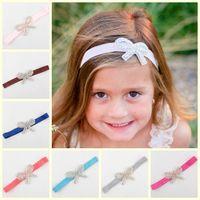 Wholesale Baby Girl Headbands Rhinestone bow headbands for girls fashion Princess Elastic headband Newborn Headbands Children s hair accessories