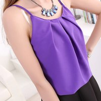 Cheap Wholesale-2015 Tube Top Corset Korean Version Of The New Sexy Chiffon Shirt Size Summer All-match Thin Dew Clavicle Bottoming Vest Woman