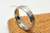 arc width - Rings Stainless Steel inner Arc Silver Tone Mixed design width mm