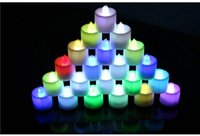 Wholesale 600pcs led light candle smokeless electronic flameless color changing wedding party multi color for home decoration