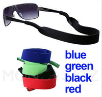 assorted neoprene - Assorted Color Spectacle Glasses Sunglasses Neoprene Stretchy Sports Band Strap Cord Holder Black Blue Green Pink