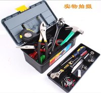 Wholesale 32 cm small three layers of multi functional plastic toolbox Electronic hardware tool box Household tool box