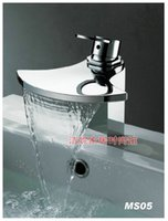 axe hole - Copper waterfall faucet axe water outlet basin hot and cold art ceramic basin