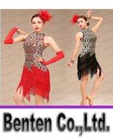 latin dress - Latin Dress Sexy Tassel Cheongsam Lace women Latin Ballroom Dress Adult Stage Costumes Dancewear Ballroom Sequins Fringe Latin Dresses LLFA7