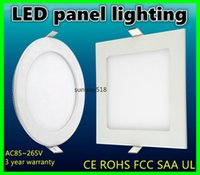 led panel light - 9W W W W W CREE LED Panel lights Recessed lamp Round Square Warm Pure Cool White Led lights for indoor lights