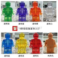 action figure buy - Single figures buying blank unprinted Minifigure for DIY MOC Block Fans action figure minifgure building blocks toys