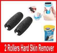 Wholesale Scholl Velvet Smooth Foot File Replacement Express Pedi Hard Skin Replacement Roller Heads Ersatzrollen Roller set