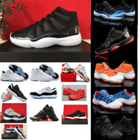 famous men - 2015 Famous Trainers Retro XI Men s Basketball Shoes Bred Black Red Athletic Sports Basketball Shoes size