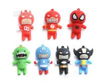 batman stick - Funny Cartoon Batman Spider Man USB Flash Memory Stick Pen Drive U disk Real GB GB GB GB box